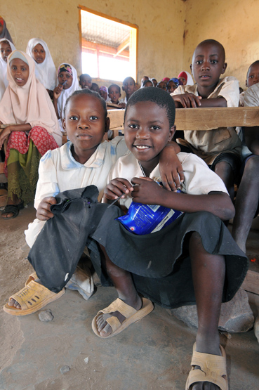 Children in a classroom in the Kakuma refugee camp, Kenya.