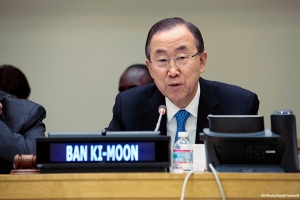 Secretary-General Ban Ki-moon at the UN General Assembly