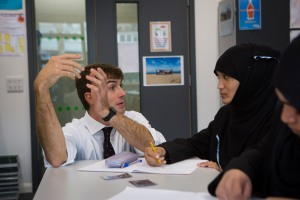 "Rob is a teacher working in a school in Tower Hamlets, one of the poorest areas of London. His school still manages to achieve better results than schools in its more affluent neighbourhoods. ""Bridging the gap between our students and middle class students doesn't just happen through classroom work,"" he said. ""We give our students the opportunities that more advantaged children take for given and get at home. We build the children's 'cultural capital'. We focus on educating the whole child and believe that exam results will follow."" Photo credit: UNESCO/Anna Kari"