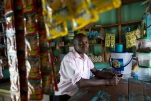 "Boniface is a teacher in Kenya who has had to take on a second job running a store at the weekend to supplement his low teacher salary.  ""Teaching is more than just a profession, it's also a calling,"" he said. ""The only problem is the pay isn't that high. That's why I had to start the business. At the end of the month when you get it [salary] you find that expenditure is even more than the income. If I compare the two, I can say that the business is better than teaching [for income]. Running a business and teaching is positive for my income and at times negative for my teaching. But it's mostly negative on my side because I have to strain to ensure that I fully satisfy my business and to meet the needs of my pupils."" - Photo credit: Karel Prinsloo/UNESCO"