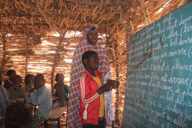 Hadiza teaching in Maradi, Niger.