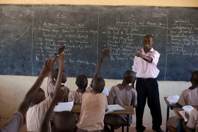 A sense of vocation: Bonafice, a teacher in Lodwar, Turkana, Kenya, says 'Teaching is more than just a profession, it's also a calling. Credit: Karel Prinsloo/ARETE/UNESCO
