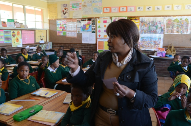 Nomvuyo, a teacher at a primary school in Alexandra township, Johannesburg. Photo: Eva-Lotta Jansson