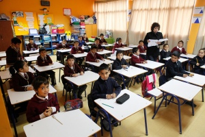 A class in an inner city school in Antofagasta, Chile. Photo: Hugo Infante