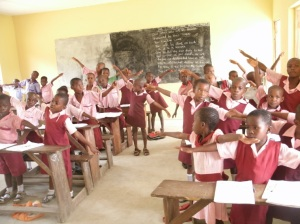 Pupils in Zamfara state, Nigeria, learning to read using synthetic phonics (Credit: Universal Learning Solutions)