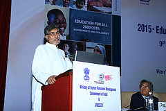Kailash Satyarthi, Nobel Peace prize winner and Chairperson, Global march against child labour. Credit: UNESCO/ZImmermann