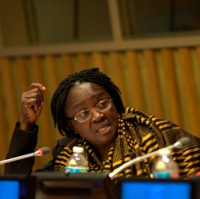 -H.E. Ms. Naana Jane Opoku-Agyeman, Minister for Education, Ghana. Credit: UNESCO/Melanie Futorian