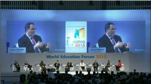 Aaron Benavot presenting at the Opening Session of the World Education Forum
