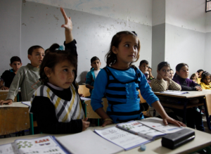 Syrian refugee children in a Lebanese school classroom Picture: Russell Watkins/Department for International Development