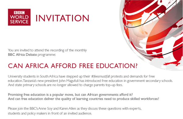 can africa afford free education world education