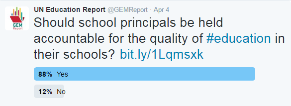 Should school principals be held accountable for the quality