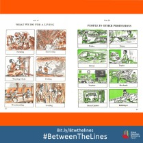 A Nigerian textbook gives a stereotypical picture of jobs according to gender… Can you spot the #GenderBias here? What #Gender norms does your textbook teach you? We want to know! Share it and tag us using: #BetweenTheLines and download the @GEMReport policy paper on textbooks: Bit.ly/Btwthelines