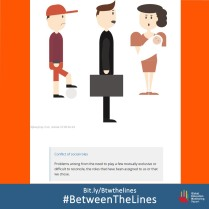 This #Polish textbook shows us the problem with the social roles assigned to us in terms of gender: the man with a briefcase and the lady with a baby in her arms. What #gender norms does your textbook teach you? We want to know! Share it and tag us using: #BetweenTheLines and download the @GEMReport policy paper on textbooks: Bit.ly/Btwthelines