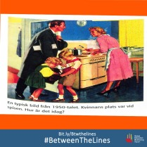 This textbook from #Sweden shows how gender norms have changed over time. What #gender norms does your textbook teach you? We want to know! Share it and tag us using: #BetweenThe Lines. and download the @GEMReport policy paper on textbooks: Bit.ly/Btwthelines