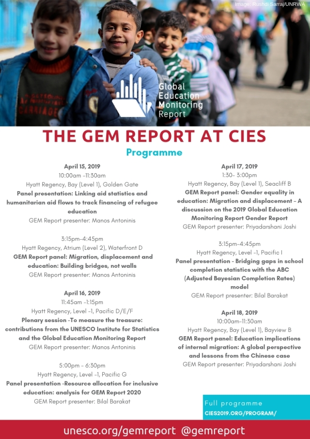 The GEM REPORt will be at CIES